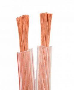 DCSk HiFi Câble Hauts Parleurs transparent - 2x4mm² - 10m - Brins fins - Câble flexible - Conducteurs en cuivre désoxygéné à 99,99% (OFC) - 2,78/m de la marque DCSk image 0 produit