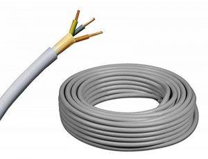 De NYM-J Câble électrique 3x 2,5mm²–NYM-J 3x 2,5mm2Câble de câble gainé–Installation–Gris–Sélection en 5m étapes–par exemple: 40m–45m–50m–55m–60m–65m–100m–110m, etc.–max. 150m de la marque EBROM image 0 produit