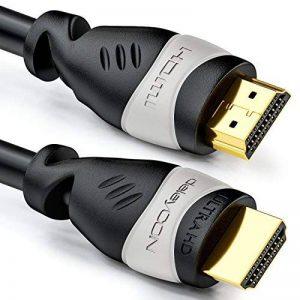 deleyCON Câble HDMI 6 m - compatible HDMI 2.0a/b/1.4a - UHD / 4K / HDR / 3D / 1080p / 2160p / ARC - Haute vitesse avec Ethernet - Noir / Gris de la marque deleyCON image 0 produit