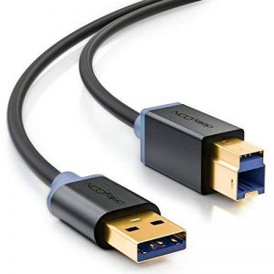 deleyCON MK752 USB 3.0 Super Speed Câble de Données - USB A (Mâle) vers USB B (Mâle) Taux de Transfert jusqu'à 5 Gbit/s 1m Noir de la marque deleyCON image 0 produit