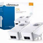 Devolo 8112 dLAN 1000 Duo+ kit de démarrage, CPL internet (1000 Mbit/s via la Prise de Courant, 2 Ports Ethernet, 2 Adaptateurs CPL, Prise de Courant Intégrée, Adaptateur Réseau CPL) Blanc de la marque Devolo image 3 produit