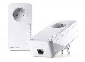 Devolo 8261 Magic 2 LAN: Kit de Démarrage - CPL 2400 Mbits/s, 1 port Ethernet Gigabit pour un Internet magique, avec prise de courant intégrée, blanc de la marque Magic image 0 produit