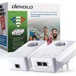 Devolo 9391 dLAN 1200+ Wifi ac, Prise Réseau CPL WiFi (1200 Mbit/s, 2x Adaptateurs, 2x Ports Gigabit Ethernet, Amplificateur WiFi, Courant Porteur, Prise Filtrée Intégrée, WiFi Move, Wifi Clone) - Kit de Démarrage, Blanc de la marque Devolo image 1 produit