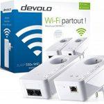 Devolo 9825 dLAN 550+ WiFi, Prise Réseau CPL WiFi (500 Mbit/s via CPL, 300 Mbit/s en WiFi, 2x Adaptateurs, 2x Ports Fast Ethernet, Amplifier WiFi, Courant Porteur, Access Point) - Kit de Démarrage, Blanc de la marque Devolo image 3 produit