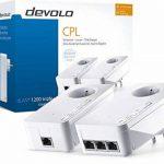 Devolo 9908 dLAN 1200 Triple+ kit de démarrage CPL (Internet à 1200 Mbps via la prise électrique, 3 ports Gigabit Ethernet, 2 adaptateurs CPL, prise de courant intégrée, adaptateur réseau) blanc de la marque Devolo image 3 produit
