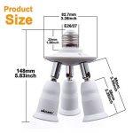 Dicuno 3 en 1 E26/E27 Socket adaptateur répartiteur, E26/E27 Ampoules LED Standard, support de convertisseur, Lustre Douille avec 360 degrés réglable à 180 ° de la marque DiCUNO image 1 produit