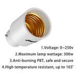 DiCUNO B22 vers E27 Adaptateur de douille de 6 pièces Adaptateur Convertisseur de douille de base de lampe de haute qualité pour ampoules LED et ampoules incandescentes et ampoules fluocompactes de la marque DiCUNO image 3 produit