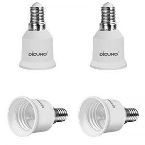 DiCUNO E14 vers E27 Adaptateur de douille de 4 pièces Adaptateur de Convertisseur de douille base de lampe de haute qualité pour ampoules LED et ampoules à incandescence et ampoules fluocompactes de la marque DiCUNO image 0 produit