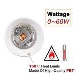 DiCUNO E26 / E27 support de lampe réglable, adaptateur de base de lampe d'extension, convertisseur de prise d'ampoule moyenne flexible, 360 degrés pliable (paquet de 4) de la marque DiCUNO image 3 produit