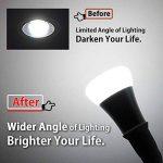 DiCUNO E26 / E27 support de lampe réglable, adaptateur de base de lampe d'extension, convertisseur de prise d'ampoule moyenne flexible, 360 degrés pliable (paquet de 4) de la marque DiCUNO image 4 produit