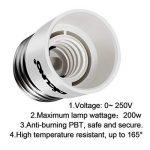 DiCUNO E27 vers E14 Adaptateur de douille de 10 pièces Adaptateur Convertisseur de douille de base de lampe de haute qualité pour ampoules LED et ampoules à incandescence et ampoules fluocompactes de la marque DiCUNO image 3 produit