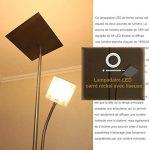 Diolumia - Lampadaire LED Carlo Nickel Carré avec Liseuse - 180cm de haut - Intensité variable - 18W+5W - 1650LM+400LM - Blanc chaud 3000K - 2 Interrupteurs Individuels - Lumière orientable et réglable de la marque Diolumia image 3 produit