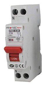 Disjoncteur A VIS PH+N 16A – Disjoncteurs de protection contre les surintensités pour installations domestiques et analogues - Pouvoir de coupure : 3000 A de la marque Pro-Tec image 0 produit