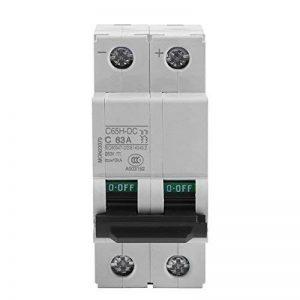 Disjoncteur, Akozon DC 250V 2P Disjoncteur Miniature d'air à Basse Tension Commutateur d'énergie pour Panneaux Solaires (63A) de la marque Akozon image 0 produit