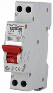 Disjoncteur PROTEC 16A – Disjoncteurs de protection contre les surintensités pour installations domestiques et analogues - Pouvoir de coupure : 3000 A de la marque Electraline image 0 produit