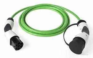 Dostar prise électrique type 2 (modes de recharge : 3 à 20 bis avec adaptateur femelle & 5 m de longueur par exemple zoe smart t de la marque WALLI image 0 produit