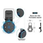Dot Outlet Wall Mount with Short Charging Cable for Alexa Dot 2nd Generation - Wall Hanger Cable Holde for Smart Home Speakers without Messy Wires or Screws - Let You Use Dot in Kitchen, Bathroom, Classroom - No Drilling Screwless Full Protection Easy Mou image 3 produit