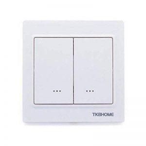Double interrupteur variateur Z-Wave Plus Blanc - TKB Home de la marque TKB Home image 0 produit
