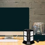 DoubleYI Tour Multiprise Parasurtenseur Parafoudre 8 Prises avec 4 USB 4,5A Ports - Cordon de 2m - Noir (Protection jusqu'à 1000 joules) de la marque DoubleYI image 4 produit