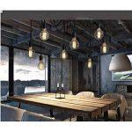 Douille Rétro abat-jour Suspensions Vintage ajustable Rétro Lustre plafond Lampe(E27) Dining Hall Chambre Hôtel 6 Bras (Ampoule NON INCLUS) de la marque ChicDécoré image 3 produit