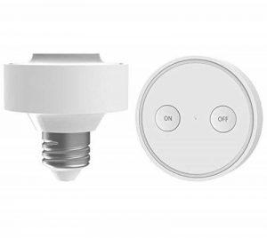 Douille sans fil Ampoule E27 avec télécommande magnétique ON/OFF support collant (LED, Halogène, etc) de la marque Lighting Arena image 0 produit