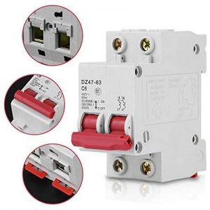 DZ47-63 6A 2-Pôles Disjoncteur Miniature AC400V 50Hz 6000A Protection contre Surcharge et Court-circuit pour Eclairage de la marque Walfront image 0 produit