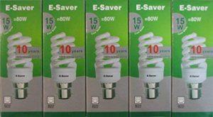 E-es - 5p - 15co à culot baïonnette B22d 15 W Lampe fluorescente compacte ampoule à économie d'énergie de la marque E-Saver image 0 produit