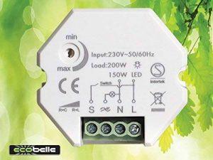 ECOBELLE Smart Dimmer/Variateur d'intensité pour LED (max 150W) et ampoules traditionnelles (max 200W), 1-200W, Traling Edge de la marque ECOBELLE image 0 produit