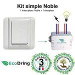 EcoDring Interrupteur sans Fil sans Pile et Son récepteur 1000W - Garantie 3 Ans - portée intérieure 30 mètres, Blanc Classique RXTX de la marque EcoDring image 1 produit