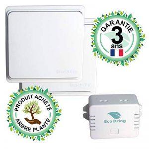 EcoDring ✮ Kit va et Vient Moderne : 2 Interrupteurs sans Fil sans Pile + 1 récepteur 1000W ✮ Garantie 3 Ans ✮ Blanc RX2TX de la marque EcoDring image 0 produit
