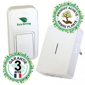 EcoDring Sonnette sans Pile sans Fil personalisable - Rendez-Vous RXTX - Garantie 3 Ans - jusqu'à 140m de la marque EcoDring image 0 produit