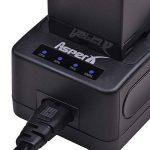 Ecran LED Chargeur ultra rapide avec adaptateur britannique à 3 broches pour Sony NP-F550 NP-F570 NP-F770 NP-F930 NP-F950 NP-F950 NP-F970 NP-F555 NP-F50070 NP-F500 Caméras QM71D NP-QM91D et TR516, TR716, TR818, TR910, TR917 de la marque Asperx image 3 produit