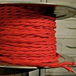 Edison vintage 0,75mm 10metres 2Core Noir–Marron–Doré–Rouge–Noir et Blanc–Anique tressée torsadée Tissu Soie Cordon de fil de câble flexible de lampe lumière UK Stock, rouge de la marque LEDSONE image 2 produit