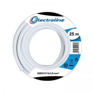 Electraline 20607038J Couronne de câble H05VV-F pour rallonge 25 m section 2x1,5 mm² de la marque Electraline image 0 produit