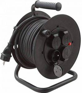Electraline 20868123D Rallonge Prolongateur électrique IP44 Profesionnelle 25 m avec enrouleur Noir - Section 3G1,5 mm² de la marque Electraline image 0 produit