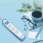 Electraline Gummy 35602 Bloc Multiprise 3 prises et 2 USB - couverture en silicone antidérapant - câble 2 mt - fiche plat de la marque Electraline image 4 produit