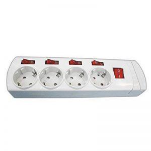 ElectroDH 36,188-Multiprise 4 Prises avec Interrupteurs Indépendants de la marque ElectroDH image 0 produit