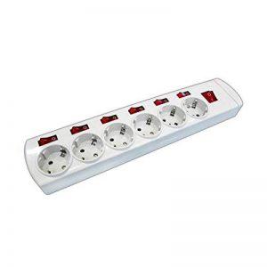 ElectroDH 36.189/Sc 8430552130177 Multiprise à 6 ports en thermodurcissable avec interrupteurs indépendants sans câble 16A/250V de la marque ElectroDH image 0 produit