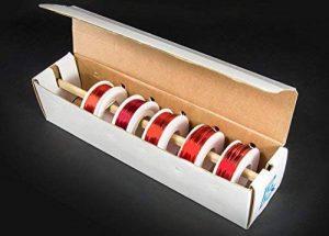 Electronix Express assorties Fil magnétique jauges kit–Bobines de fil de cuivre de revêtement en émail (5–22, 24, 28, 30et 32AWG) de la marque Electronix Express image 0 produit