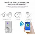 ELEGIANT Prise Intelligente, WiFi 2.4GHz Interrupteur Domotique Switch Smart Télécommande Commutateur Compatible Tablette Smartphone iOS Android de la marque ELEGIANT image 3 produit