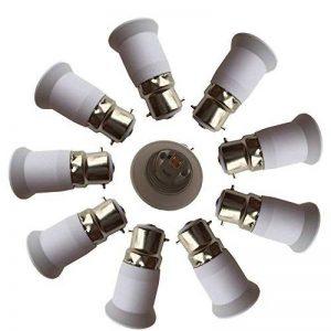 Eleidgs 10 PCS B22 vers E27 Adaptateur de Douille , Ampoule LED Base Douille B22 à E26 Lamp Holder Converter de la marque DZYDZR image 0 produit