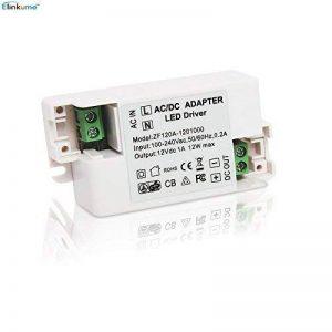 Elinkume LED Transformateur DC12V Transformateur Electronique 220V à 12V LED Tension Constante 1A de la marque ELINKUME image 0 produit