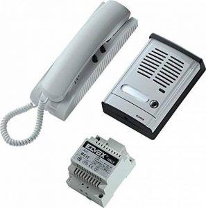 Elvox 884H - Kit poste porte entrée - 1 usager - audio - blanc/Gris de la marque ELVOX image 0 produit