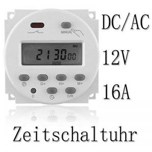 emotree DC/AC 12V 16A LCD écran numérique Budget Appareil minuterie Minuteur programmable de la marque Emo-Tree image 0 produit