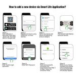 eMylo Smart WiFi 90-250V AC Sans Fil Interrupteur Télécommande Minuterie Télécommande Compatible avec Alexa Echo Google Home Voice control iPhone Android App 6 packs de la marque eMylo image 2 produit