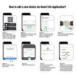 Emylo télécommande SMART Wifi Interrupteur sans fil Relais minuterie de coupe-circuits Compatible avec Alexa Echo Google Home iPhone Android App 2 packs … de la marque eMylo image 2 produit