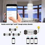 Emylo télécommande SMART Wifi Interrupteur sans fil Relais minuterie de coupe-circuits Compatible avec Alexa Echo Google Home iPhone Android App 2 packs … de la marque eMylo image 3 produit