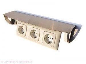 En acier inoxydable avec toit pour 3 prises/interrupteur montage en saillie pour pièce humide avec protection anti-projections en caoutchouc wechselkontrollschalter écrans extérieur interrupteur va et vient-boîte de dérivation coffret boîte de dérivation image 0 produit