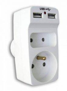 Enexo - Biplite 6A + 16A avec 2 chargeurs USB -Blanc de la marque Enexo image 0 produit