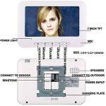 ENNIO 7 pouces LCD 2 Appartements Vidéo Interphone Système de Interphone IR-CUT HD 1000TVL Caméra Sonnette Caméra avec 2 Bouton 2 Moniteur Étanche de la marque ENNIO image 2 produit